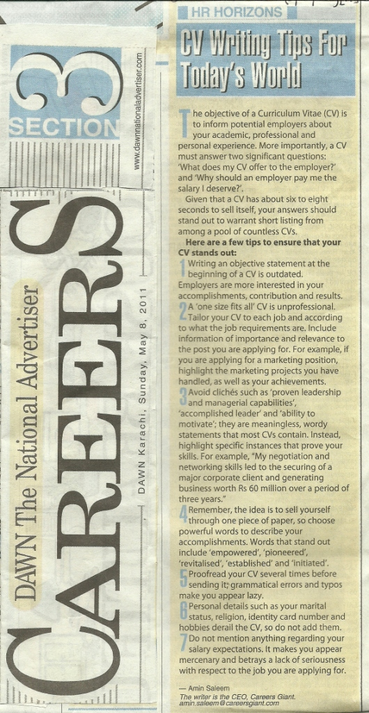 Professional CV Writing Dawn 8th May 2011-For doc